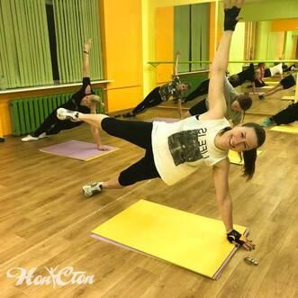Позитивная тренировка с Еленой Федотовой в витебском фитнес клубе Нон-стоп