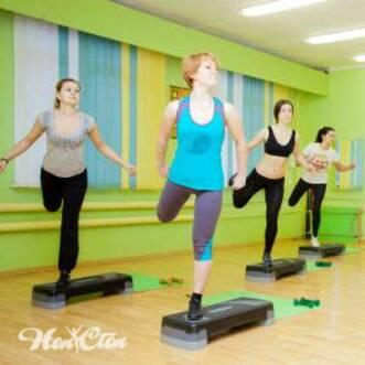 Фитнес тренировка для похудения - групповое занятие со степом