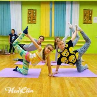 Фото детей на занятии детским фитнесом