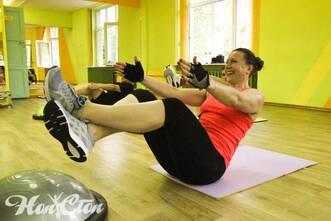 Интенсивная тренировка с Еленой Федотовой в фитнес клубе Нон-стоп в Витебске