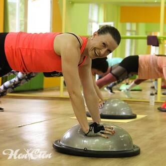 Тренировка с Еленой Федотовой в фитнес клубе Нон-стоп в Витебске