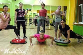 Тренировка с разнообразным оборудованием в фитнес клубе Нон-стоп в Витебске