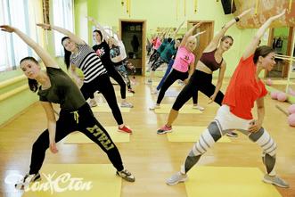 Тренировка по фитнесу с Марковой Анастасией в клубе Нон-стоп в Витебске