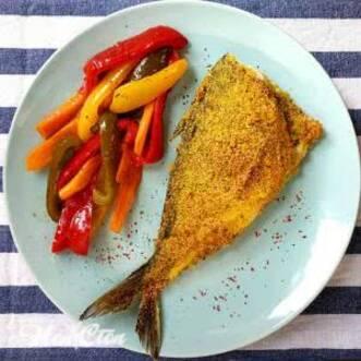 Фото тарелки с рыбой с перрцем