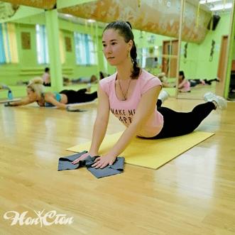 Тренировка с тренером Лебедевой Катей по программе Силуэт в витебском фитнес клубе Нон-стоп