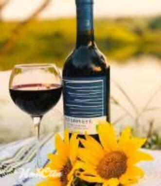 Фото бокала и бутылки вина