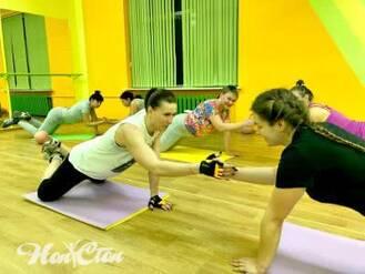 Парная тренировка в фитнес программе Супер 8 в клубе Нон-стоп, Витебск
