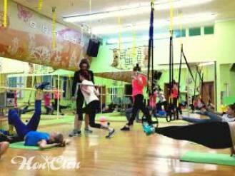 Фото девушек выполняющих круговую тренировку